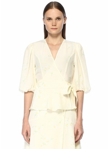 Ganni Bluz Beyaz
